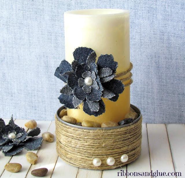 DIY Shabby Chic Candle Holder