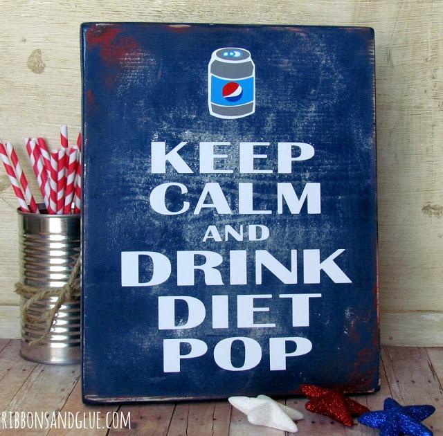 Rustic DIY Diet Pop Sign