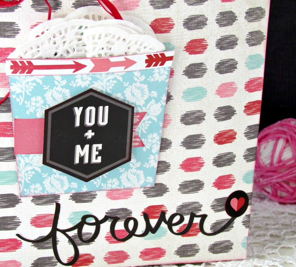You & Me Valentines Bag made with Silhouette and Scrapbooking Paper