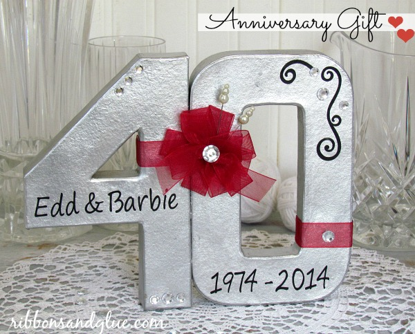 Ruby Wedding Gift For Parents : 40th Wedding Anniversary Gift