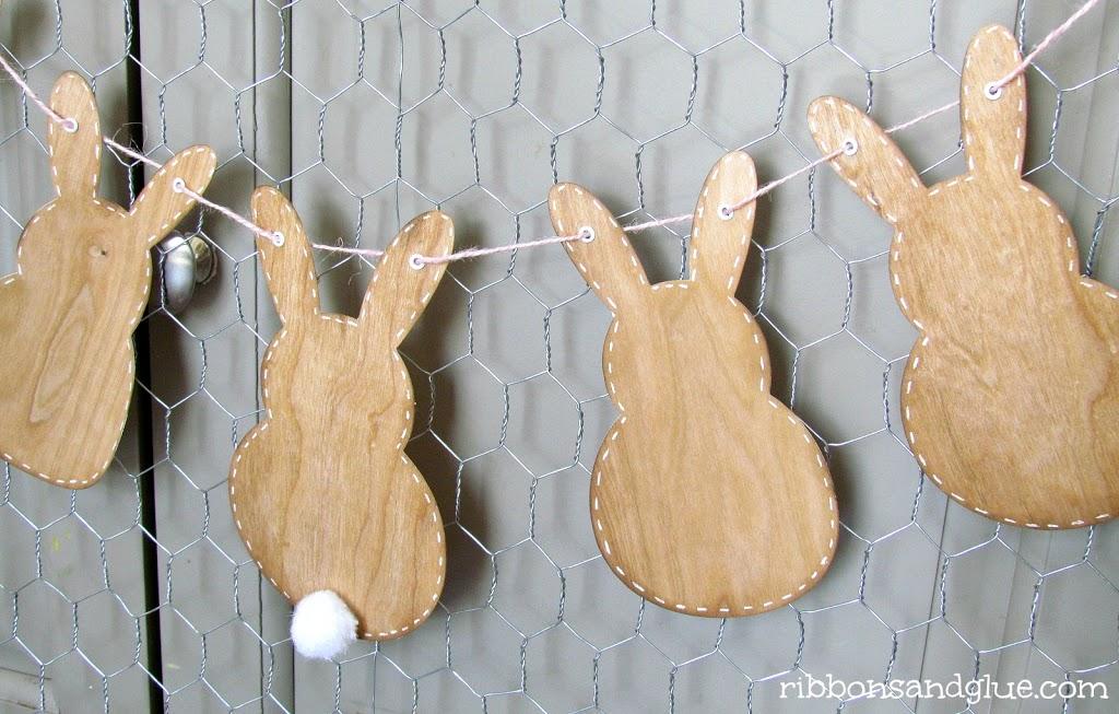 Wood Veneer Bunny Banner
