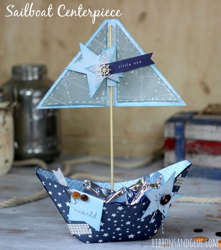 Nautical Decor Centerpieces: Nautical Sailboat Centerpiece
