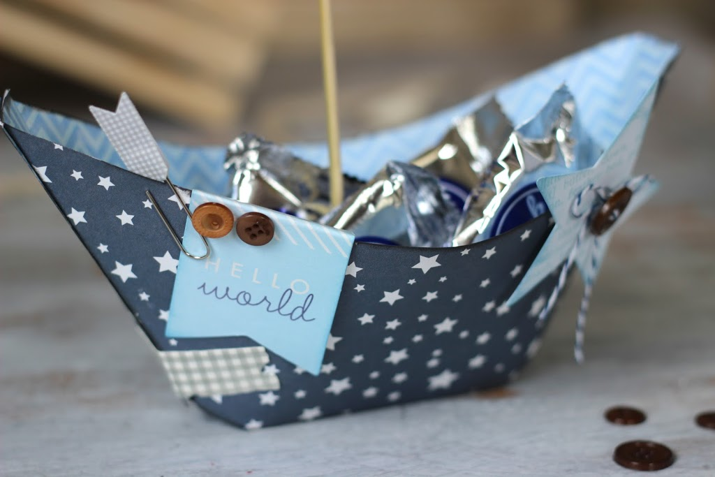 paper sailboat centerpiece perfect for any nautical themed baby shower