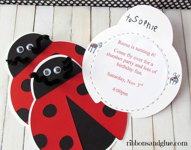 Ladybug Invitations
