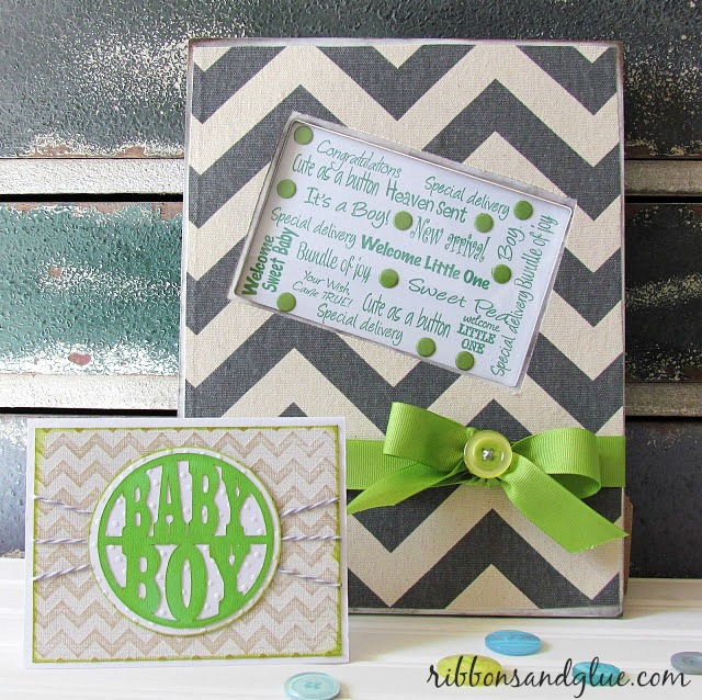 Chevron Baby Card and Frame