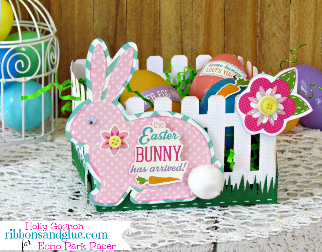 Picket Fence Easter Basket made with Silhouette