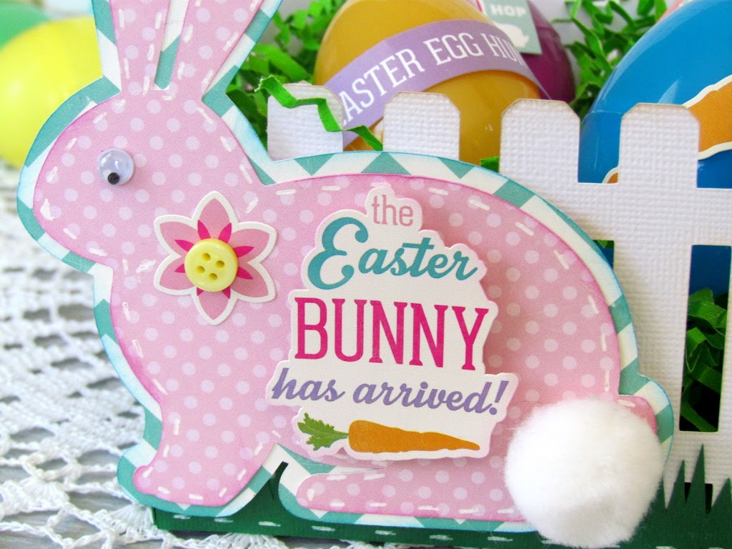 Picket Fence Easter Basket made with Silhouette and Echo Park Paper kit