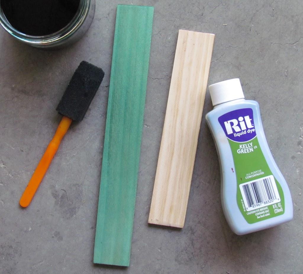 Dye natural wood with Rit Dye