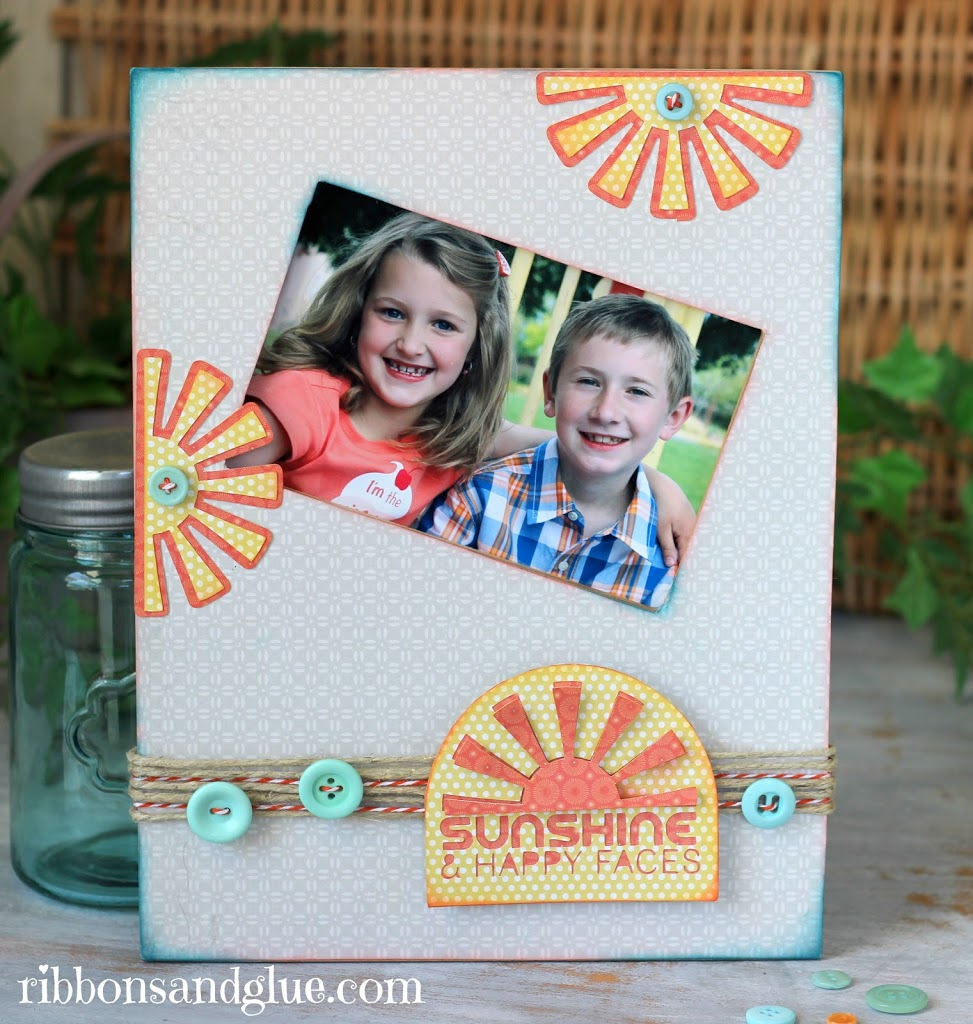 DIY Sunshine Frame frame made with Mod Podge , @echoparkpaper  and @silhouetteamerica